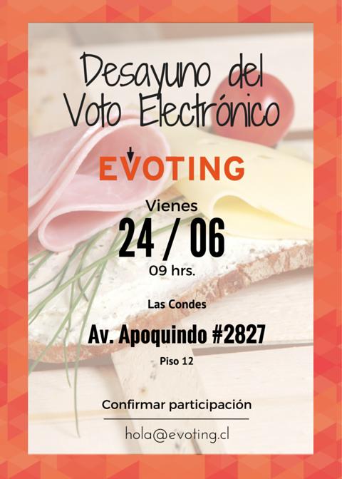 Afiche Desayuno EVoting
