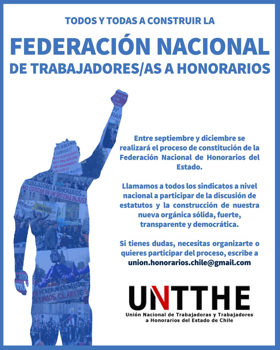 Afiche unión nacional honorarios del estado pasa a federación