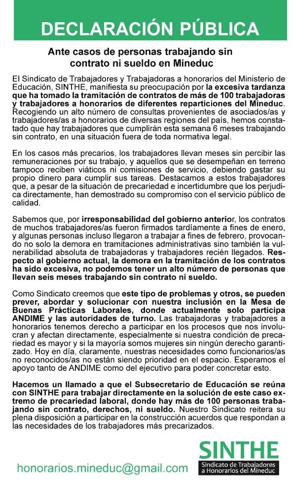 SINTHE Convenios Declaracion MBPL