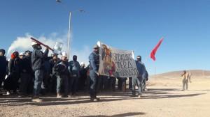 FOTO PROTESTA MINERA GUANACO